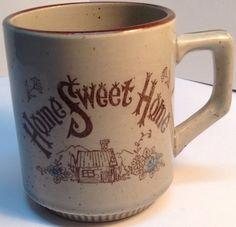vintage coffee mug from Japan HOME SWEET HOME classic scene/ tasse a café Japon                          $6.49