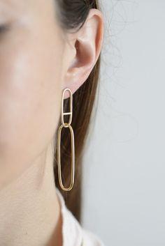 Eclipse hoop earrings from @seaworthypdx