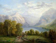 Highland Lake landscape  www.bbc.co.uk /arts/yourpaintings/artists/john-white-11867