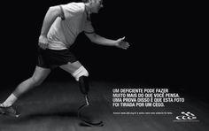 Um deficiente pode fazer qualquer coisa. Prova disso é que as fotos da nova campanha criada pela Age para a ADD (A ssociação Desportiva para...