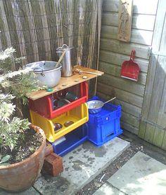 mud pie kitchen for the kids