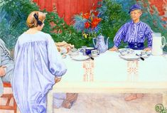 Carl Larsson - At The Breakfast Table