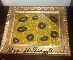 Gold Luscious Lips Vanity Tray, Perfume Tray, on Etsy, $41.00