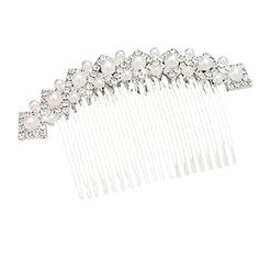 Susenstone Crystal Rhinestone Pearl Bridal Wedding Party Hair Comb Clip. Susenstone is a registered trademark and the only authorized seller of susenstone branded products. 100% New and high quality Crystal Material. Category: comb inserted comb Style Women. Crystal Category: White Crystal. Occasions for gifts: Opening ceremony Occasions for gifts, souvenir, birthday, wedding, advertising and promotion, anniversary celebration, public relations planning, housewarming.