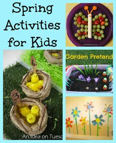 Four Spring Activities for kids to brighten your day!