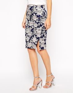 Image 4 ofOasis Floral Pencil Skirt