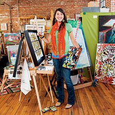 Just in time for the June Studio Stroll, in Asheville, North Carolina, artist Nancy Hilliard Joyce shows us around the most colorful neighborhood in her hometown Asheville North Carolina, Western North Carolina, North Carolina Mountains, North Carolina Homes, South Carolina, Ashville Nc, Mountain City, Anna Maria Island, Down South