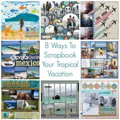 tropical scrapbook layouts | Ways To Scrapbook Your Tropical Vacation – Scrap Booking
