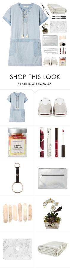 """""""My Bad"""" by dianakhuzatyan ❤ liked on Polyvore featuring M.i.h Jeans, Loro Piana, Korres, Monki, Nearly Natural, Laura Ashley and Sharpie"""