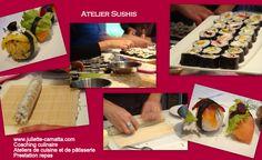 atelier sushis ... le top pour passer un bon moment entre amis, fédérer son équipe de travail ...  www.juliette-camatta.com