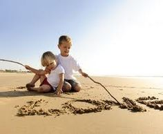 beach photography kids--I like the words which could write out the family name or another key word like faith