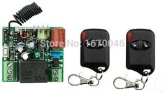 AC220V 1CH Wireless Remote Control Switch System teleswitch 1*Receiver + 2*cat eye Transmitters for Appliances Gate Garage Door #Affiliate