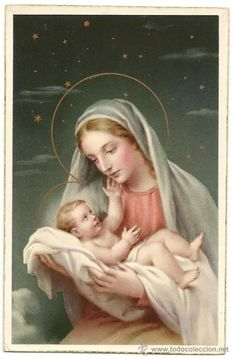 Blessed Virgin Mary and Baby Jesus Religious Pictures, Jesus Pictures, Religious Icons, Religious Art, Jesus Mother, Blessed Mother Mary, Blessed Virgin Mary, Baby Jesus, Catholic Art