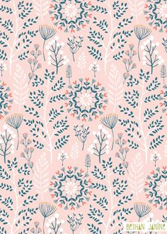 Floral pattern wallpaper winter garden print patterns pattern pattern design and print patterns floral pattern wallpaper iphone Surface Pattern Design, Pattern Art, Pattern Design Drawing, Flower Pattern Design, Textile Patterns, Print Patterns, Floral Patterns, Palettes Color, Motif Floral