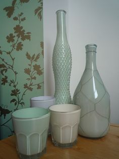 DIY - Painted Glass Tutorial using Latex Paint. Full Step-by-Step Tutorial.