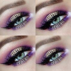 Summer Makeup Looks 2018 Summer Eye Makeup, Purple Eye Makeup, Purple Eyeshadow, Smokey Eye Makeup, Beautiful Eye Makeup, Cute Makeup, Amazing Makeup, Gorgeous Eyes, Makeup Looks 2018
