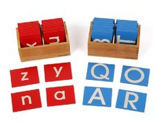 (52.99$)  Watch more here - http://aifdo.worlditems.win/all/product.php?id=1886156383 - Free Shipping!Baby Toys Montessori Lower and Capital Case Sandpaper Letters in Boxes Educational Toys Blocks