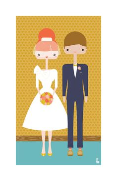 custom portraits from an etsy shop - perfect for weddings!
