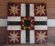 Primitive 8 point Star Parcheesi Game Board
