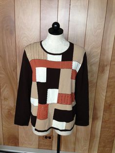 WOMEN'S ALFRED DUNNER LONG SLEEVE KNIT TOP-SIZE: LARGE #AlfredDunner #KnitTop #Career