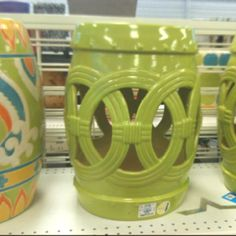 Another bargain from Ross Dress for Less Ceramic Garden Stools for only $49.99 each!  Wow!