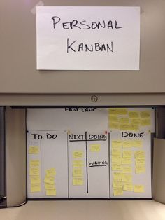 Personal Kanban via flickr Visual Management, Time Management, Business Management, Kaizen, Lean Office, Scrum Board, Life Organization, Organizing, School