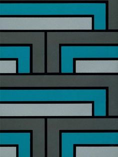 Colourful, geometric pattern - one of my faves. Florence Broadhurst.