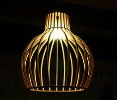 timber pendant lamp shade #1