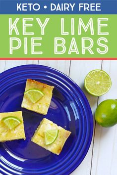 These sugar free grain free bars are low in carbs and high on flavor! These sugar free grain free bars are low in carbs and high on flavor! Keto Friendly Desserts, Low Carb Desserts, Dairy Free Key Lime Pie, Key Lime Pie Bars, Sugar Free Recipes, Keto Recipes, Dessert Recipes, Key Lime Flavor, Keylime Pie Recipe