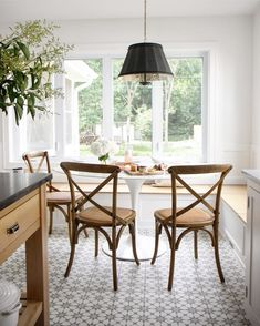 Our Bistro Chairs bring European flair to this gorgeous dining area designed by @parkandoakdesign! Thanks for sharing with #mywilliamssonoma . Don't forget to tag us in your photos. We love seeing how you style your favorite @wshome pieces!
