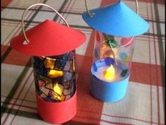 Make and decorate your own little lanterns with plastic tea lights, clear plasti. - Make and decorate your own little lanterns with plastic tea lights, clear plastic, and card paper ^ - Camping Theme Crafts, Vbs Crafts, Church Crafts, Camping Ideas, Camping Crafts For Kids, Campfire Crafts, Classroom Camping Theme, Preschool Camping Activities, Ute Camping