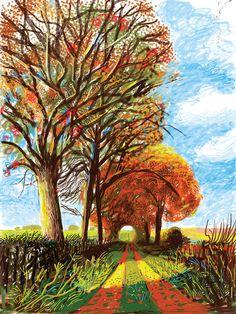 Primavera, Otoño - Ilustración David Hockney