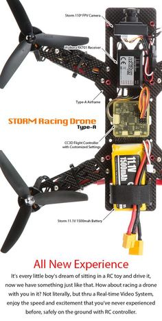 Take a closer look of it and you will feel amaze! http://www.helipal.com/storm-racing-drone-rtf-type-a.html #QAV250