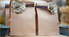 Handmade Wedding Favours, Vintage Wedding Favors, Wedding Favors Cheap, Wedding Bags, Wedding Ideas, Paper Gift Bags, Pretty Packaging, Clever Packaging, Vintage Gifts