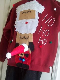 dirty ugly sweaters | Ugly Christmas Sweater Men M L XL 2XL Naughty ... | Ugly Sweater Party