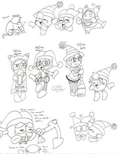 Marx and Magolor Doodles [2]