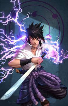 Naruto - Sasuke - Colorworld Killer Sasuke from Naruto by powerful duo, Anthony Figaro and David Delatny ! Get this print in metal, paper, or a magnet. Naruto Team 7, Naruto Art, Naruto And Sasuke, Kakashi, Anime Naruto, Naruto Shippuden, Boruto, Emo, Dope Wallpapers