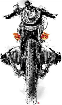 23 ideas bike painting ideas cafe racers for 2019 Motorcycle Posters, Motorcycle Art, Bike Art, Motorcycle Stickers, Royal Enfield Wallpapers, V Max, Cafe Racing, Bmw Motorcycles, Car Drawings