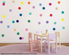 1 Inch Polka Dots Stickers Polka Dot Circle Wall Decals/Wall