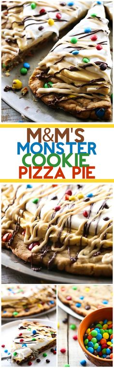 This MMS Monster Cookie Pizza Pie is the ultimate dessert! It is peanut butter chocolate heaven! #sponsored #dessert #recipes #snack #treat #recipe