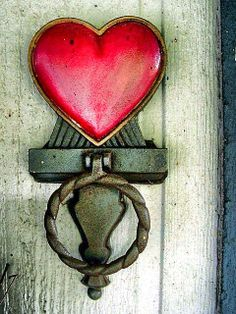Poignée de porte Coeur