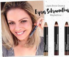 Resenha do Lápis Maybelline Expres`Sobrancelhas Brow Drama, um lápis em cera que preenche, modela e fixa em apenas um passo, durando muito mais!