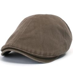 88290d274b7 ililily New Men s Cotton washing Flat Cap Cabbie Hat Gatsby Ivy Caps Irish…