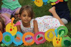 Spiele für den Kindergeburtstag – Raupe Nimmersatt-Rallye
