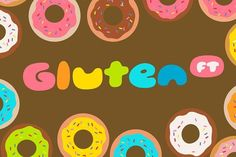 SO CUTE!!! Gluten by Finck Type (FT) on @creativemarket