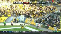Pittsburgh Steelers wide receiver Antonio Brown caught a Ben Roethlisberger pass and ran 56 yards to the end zone.