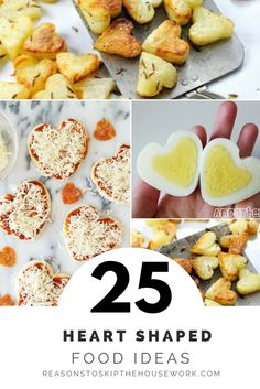 These 25 heart shaped food recipes will show you how to make heart shaped food for Valentines Day - and it's easier than you'd think!