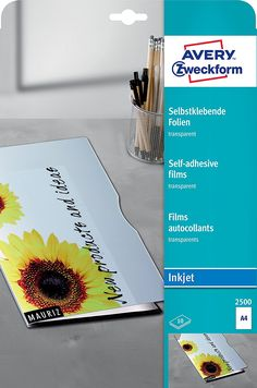 Avery Zweckform 2500 Transparente Folien (A4, selbstklebend, spezialbeschichtet, stapelverarbeitbar) 10 Blatt: Amazon.de: Bürobedarf & Schreibwaren