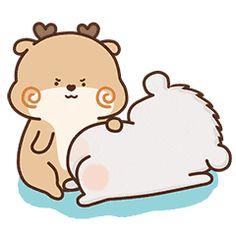 23 Cute deer and bear gifs iPhone Emoji A Cute Cartoon Images, Cute Couple Cartoon, Cute Love Pictures, Cute Love Gif, Cute Cat Gif, Cute Cartoon Wallpapers, Funny Cartoon Gifs, Abrazo Gif, Gif Mignon