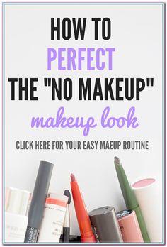 Simple Tips To Help You Achieve A Natural Makeup Look - Makeup Tutorial Over 40 Makeup Guide, Makeup Tools, Makeup Hacks, Makeup Ideas, Makeup Inspo, Cute Makeup, Simple Makeup, Easy Makeup, Make Up Designs